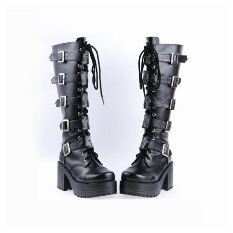 Bad-Ass Leather Gothic Boots – Eskullat