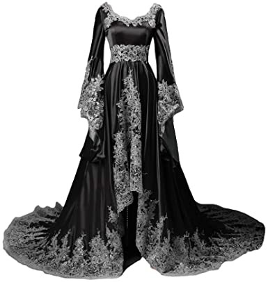 Lemai Long Sleeves Formal Evening Gowns A Line Women Gothic .