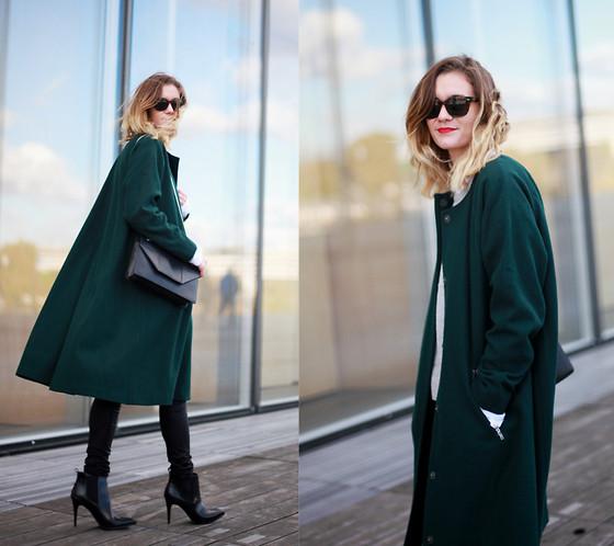 Adenorah M - Monki Coat - Adenorah - The green coat | LOOKBO