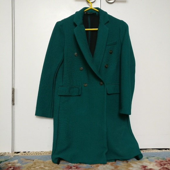 Zara Jackets & Coats | Emerald Green Coat | Poshma