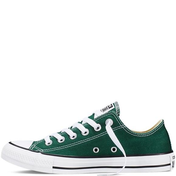 Converse Shoes | Dark Green All Star Low Tops | Poshma