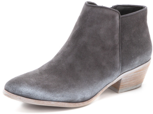 shoes, grey, suede, ankle boots, ankle boots, sam edelman, boho .