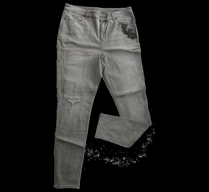 Platinum Jegging Trooper Grey Jeans Women's Collin Mid-Rise Skinny .