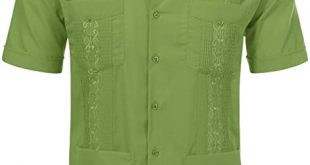 JD Apparel Men's Short Sleeve Cuban Guayabera Shirts at Amazon .