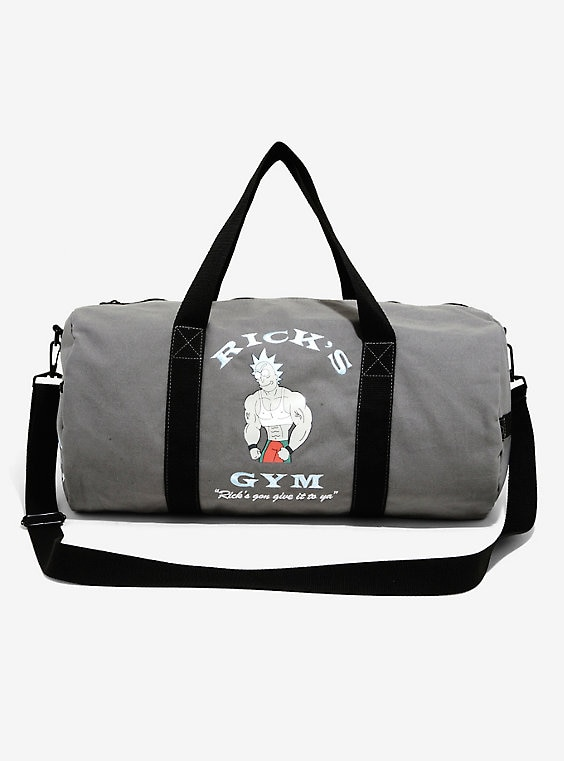 Rick And Morty Rick's Gym Duffle Bag - BoxLunch Exclusi