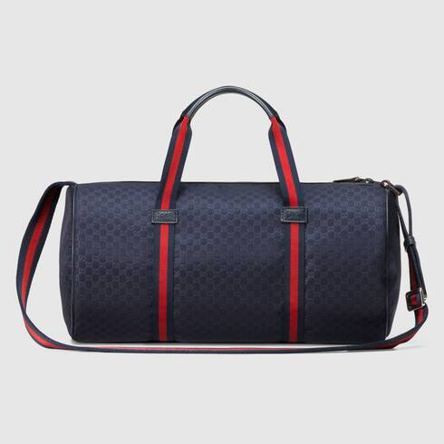 Blue kid's blue microGuccissima nylon gym bag | GUCCI®