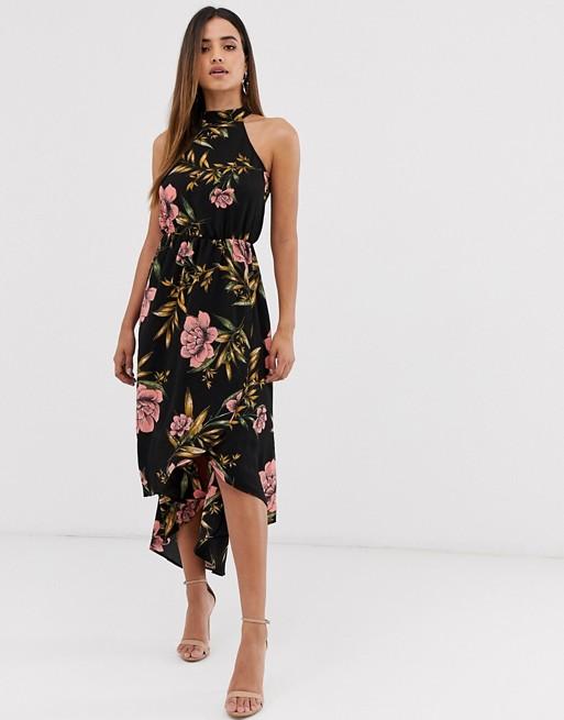 AX Paris floral halter neck dress   AS