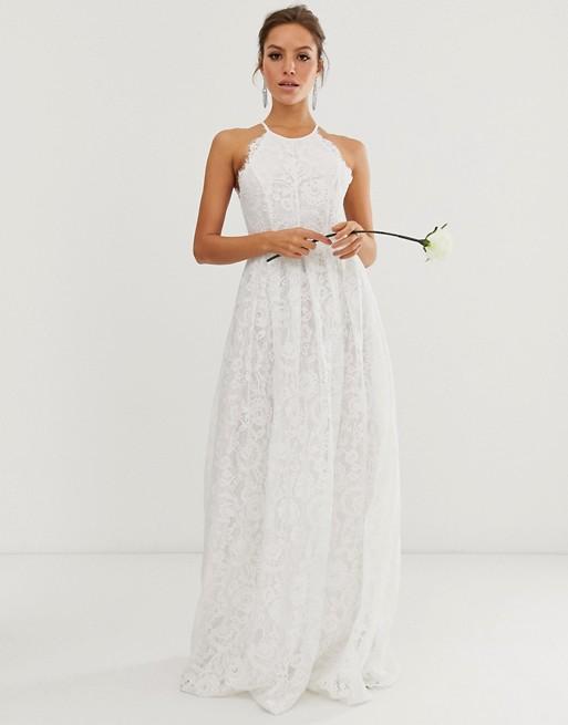 ASOS EDITION lace halter neck maxi wedding dress   AS