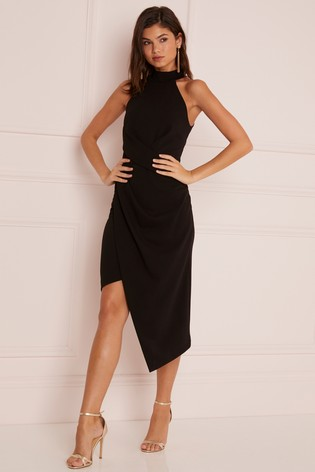 Buy Lipsy Halter Neck Asymmetric Bodycon Dress from Next U