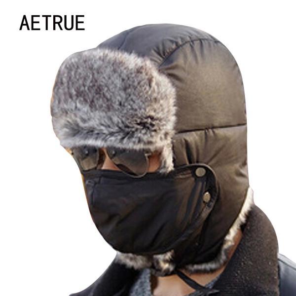 Winter Bomber Hats Men Women Fur Thickened Ear Flaps Winter Hat Earf