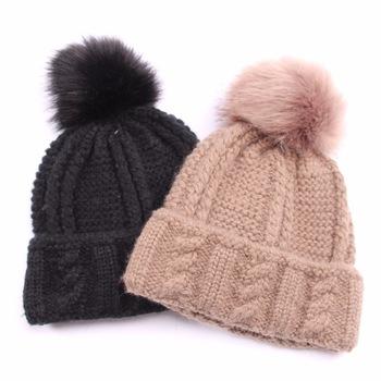 New Product Ladies Winter Caps Pompon Hat - Buy Pompon Hat .