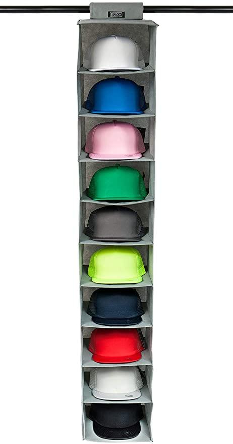 Amazon.com: Boxy Concepts Hat Rack 10 Shelf Hanging Closet Hat .