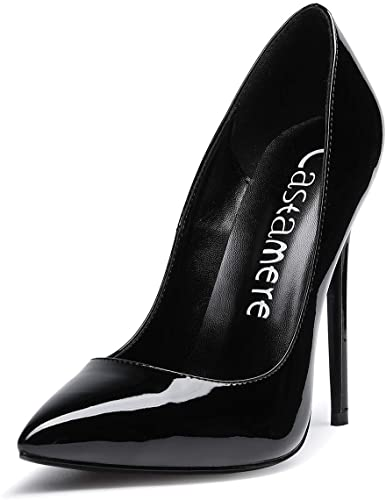 Amazon.com | CASTAMERE Women's High Heel Pumps Slip-on Pointy Toe .