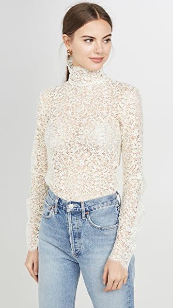 Edition10 Lace High Neck Blouse   SHOPB