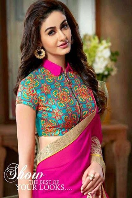 30 Latest High Neck Blouse Designs for Sarees in 2020   Blouse .