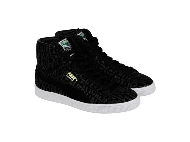 Puma X Alife Suede Mix Stuck Up Black White Mens High Top Sneakers .