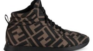Fendi - Logo High-Top Sneakers - saks.c