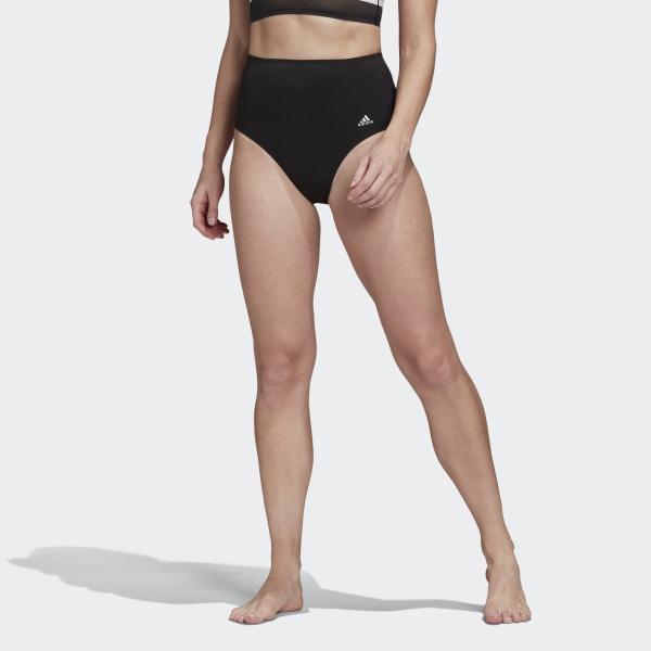 adidas High Waist Bikini Bottoms - Black | adidas