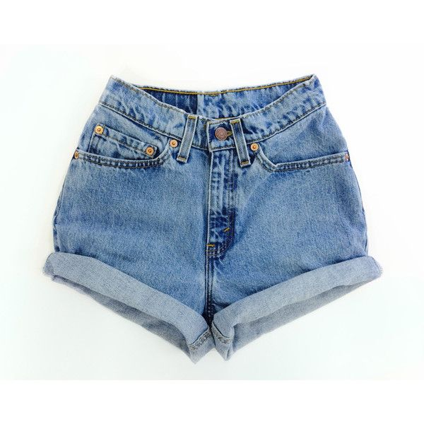 Vintage Levis high waisted Denim Shorts All Sizes ($29) ❤ liked .