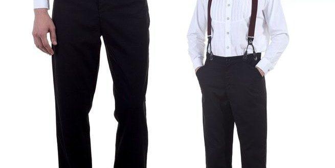 Black Tussar High Waist Pants | RebelsMark