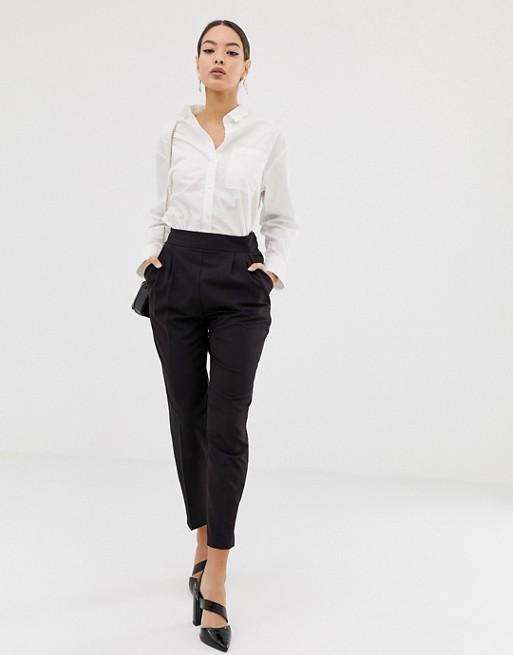 ASOS DESIGN high waist tapered pants | AS