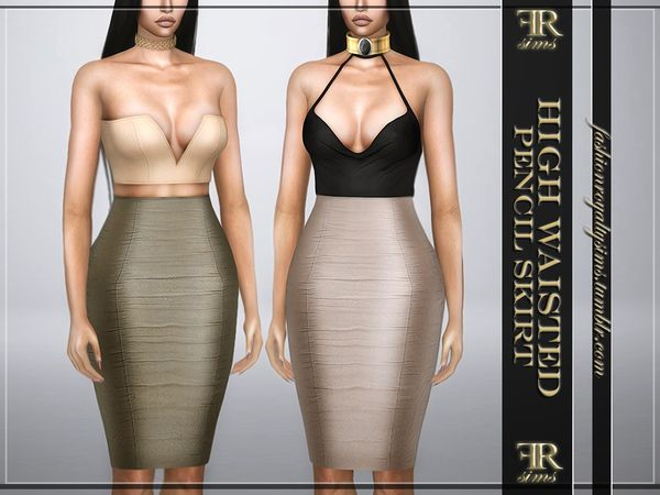 The Sims 4 High Waisted Pencil Skirt | The sims 4 roupas, The sims .