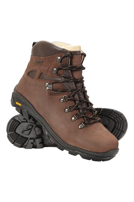 Excalibur Mens Leather Waterproof Boots | Mountain Warehouse