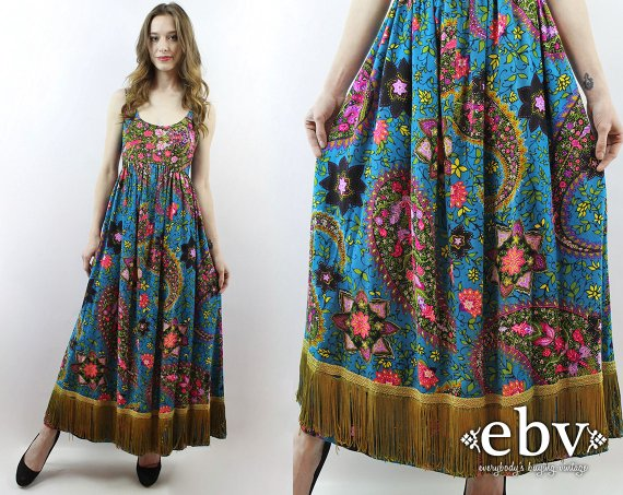 Hippie Dress Hippy Dress Boho Dress Bohemian Dress Festival Dress .