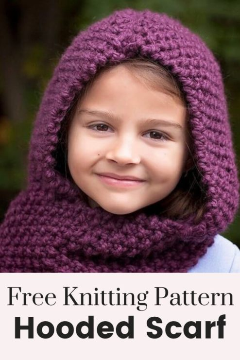 Hooded Scarf Knitting Patte