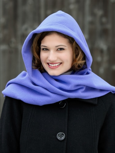 Hood Scarf | Extra Long Fleece Hooded Sca