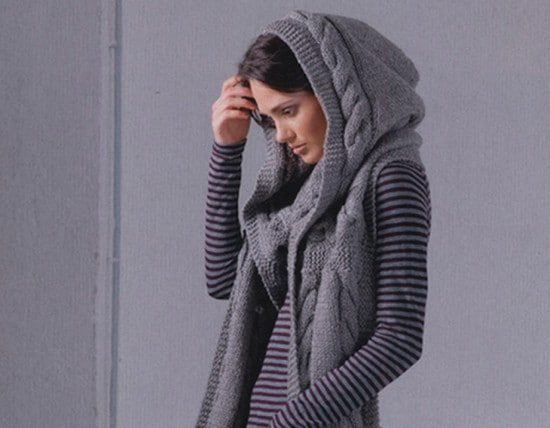 Knitted Hooded Scarf Pattern All The Best Ide