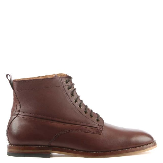 Hudson Men's Forge Brown Leather Lace Up Ankle Bo