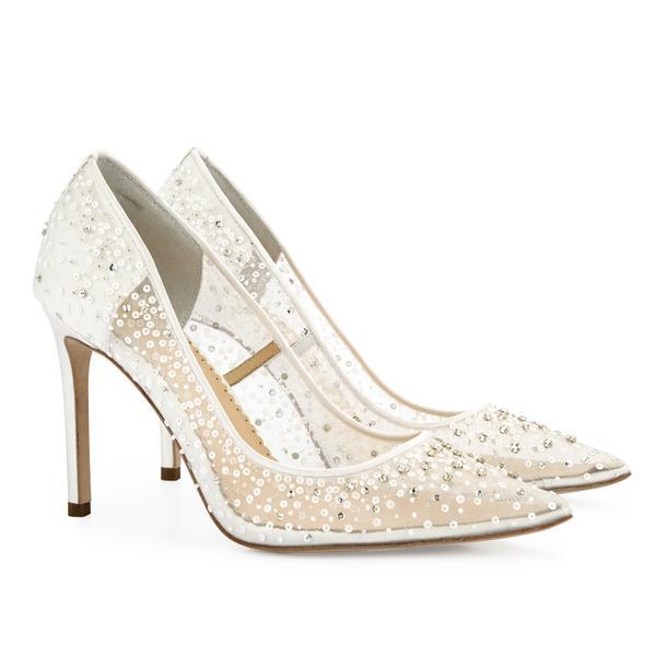 Elsa Luxury Sequin Ivory Wedding Shoes | Bella Belle Sho