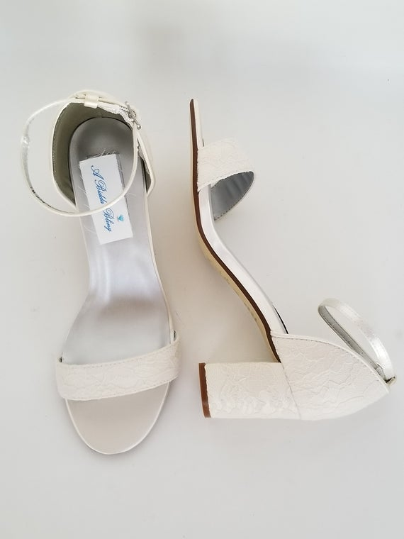 Ivory Wedding Shoes with Block Heel Ivory Bridal Shoes with | Et