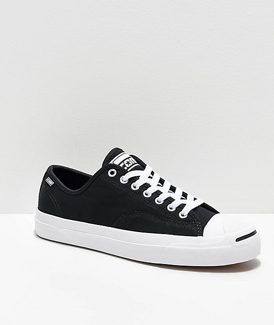Converse Jack Purcell Pro Rip-Through Flame Black & White Skate .