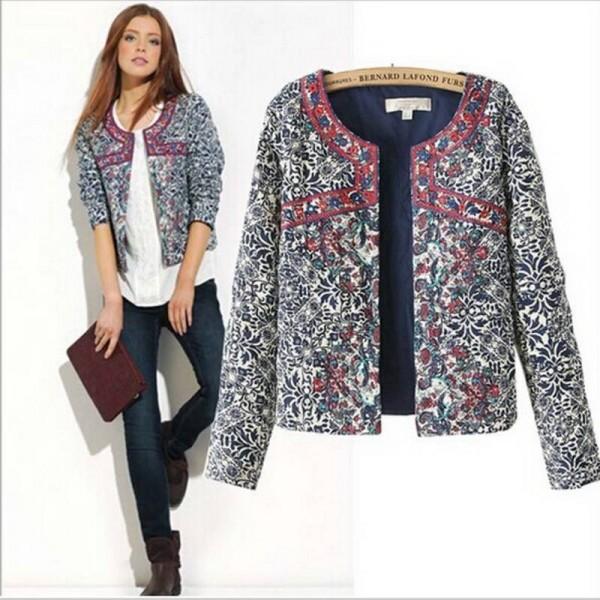 New Fashion Women Autumn Spring Coats Slim Cotton Jackets .