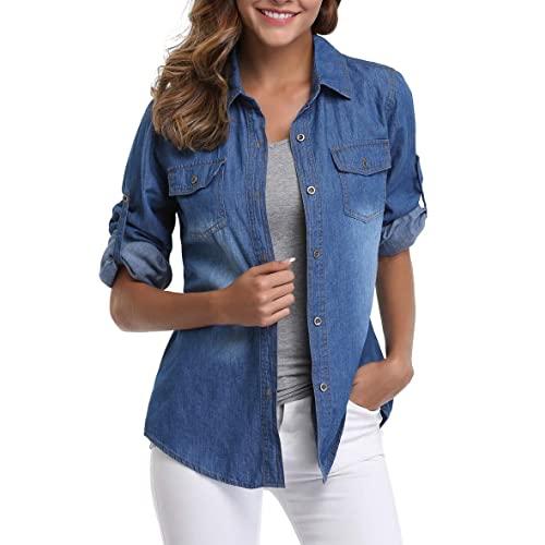 Women's Jean Shirts: Amazon.c