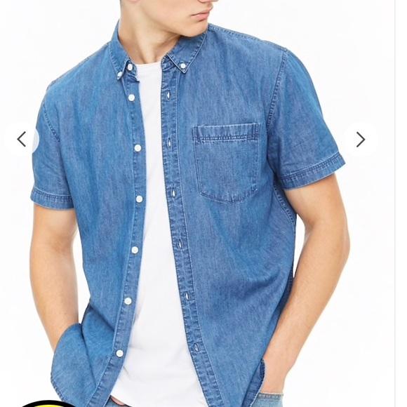 Fieldmaster Shirts | Mens Denim Shirt Short Sleeve Jean Shirt .