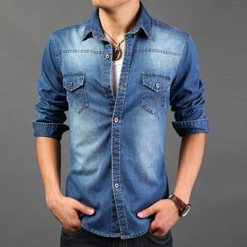 Item Type: Denim/ Jean Shirt Pattern Type: Solid Fashion: Street .