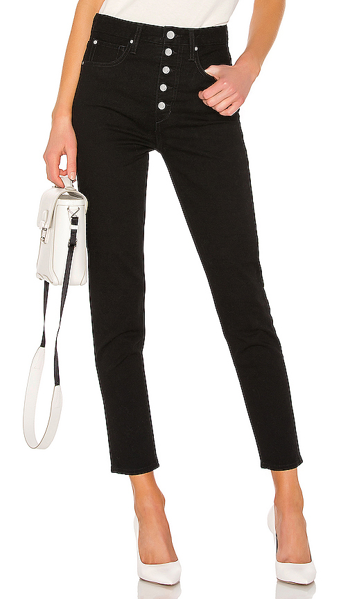 Joe's Jeans X We Wore What The Danielle High Rise Vintage in Black .