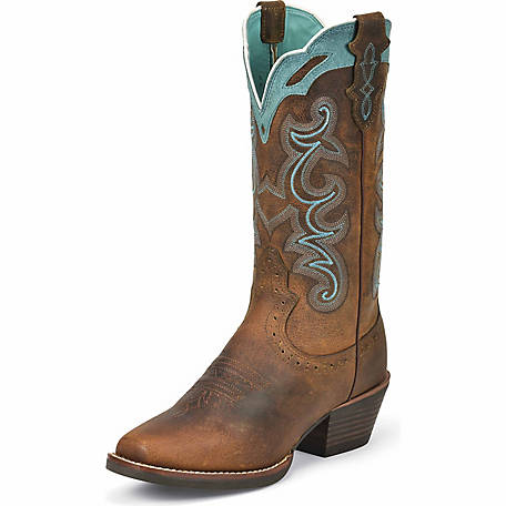 Justin Women's Silver Collection 12 in. Square Toe Boot at Tractor .
