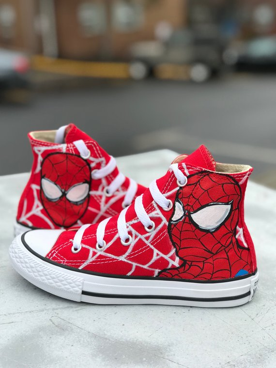 Spider-Man toddler/kids Converse (With images) | Marvel shoes .