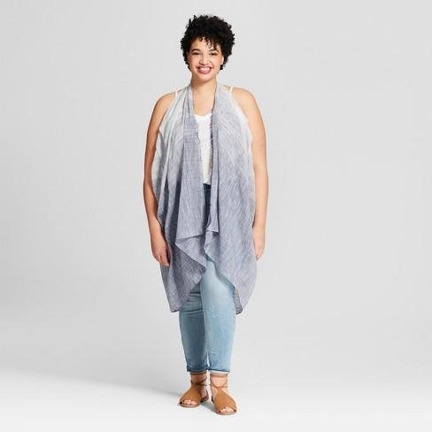 Women's Plus Size Striped Vest Kimono Jackets - Universal Thread .
