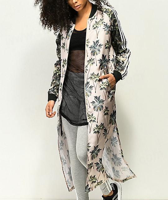 Women Assorted Adidas X Farm Tropical Satin Track Kimono Jackets .