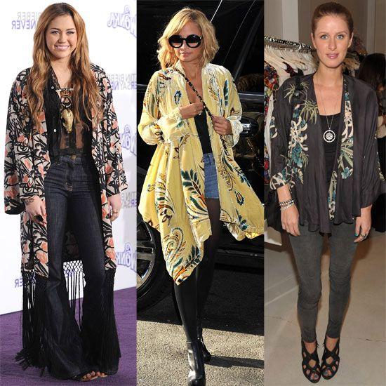 Celebrity Trend Alert: The Kimono Jacket | Kimono fashion, Kimono .