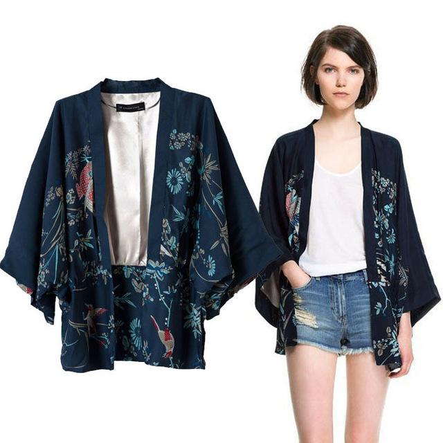 Blue kimono jacket new lo