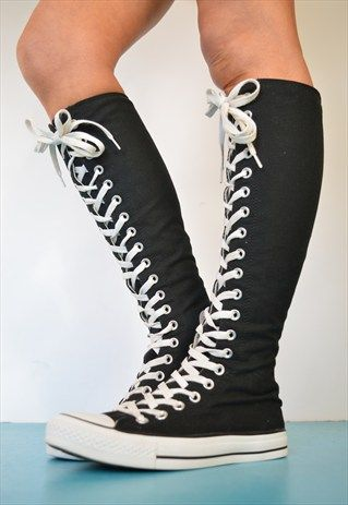 store.converse $29 on | Fashion, Converse boots, Knee high conver