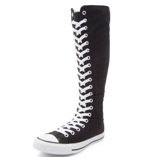 Knee High lace up Converse All Star Cheerleader shoes Wedding .