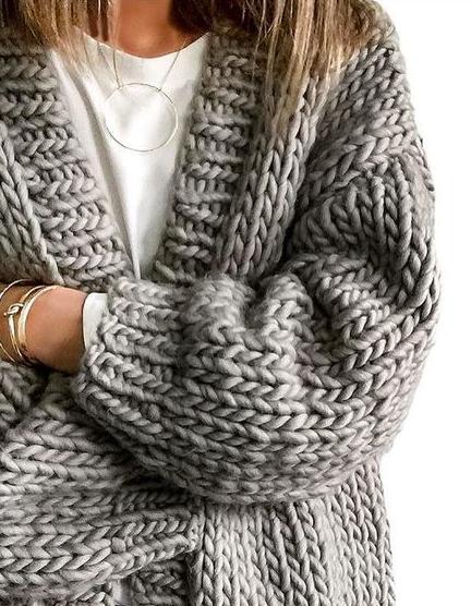 chunky knit cardigans | Chunky knit cardigan, Cozy sweate