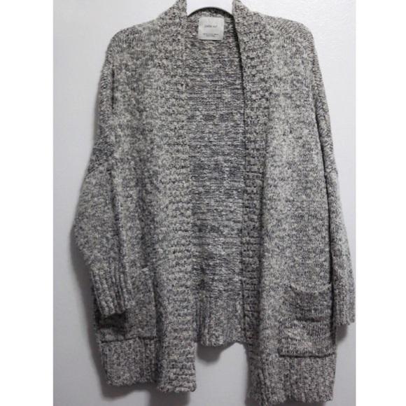 Zara Sweaters | Knit Grey Chunky Knit Cardigan Sweater | Poshma